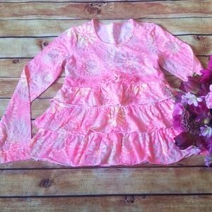 Justice Girls Pink Ruffle Top, 16